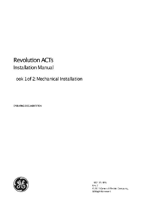 Revolution ACTs Installation Manual