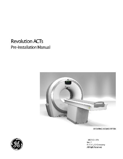 CT Revolution ACTs Pre-Installation Manual