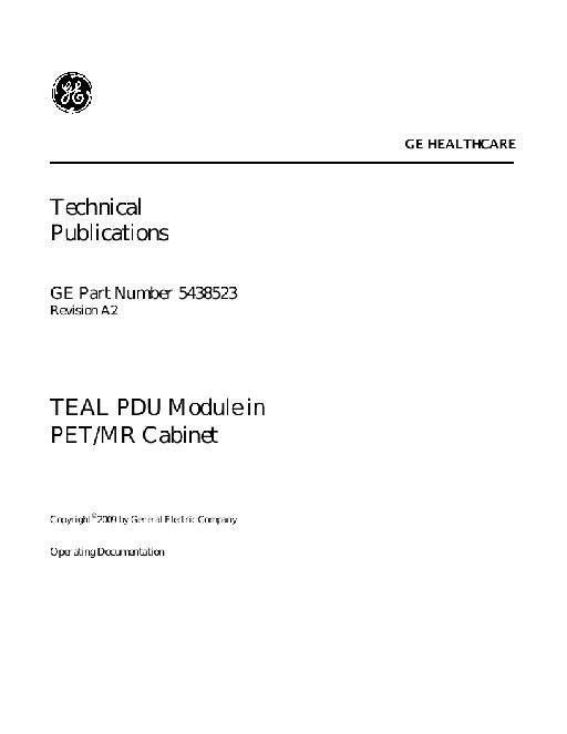 PDU Module PET MR Cabinet